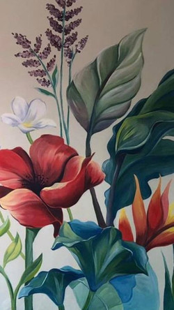 Flowers close up (Mural, CDMX, 2020)