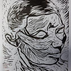 Hope (Linoleum print)
