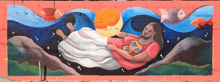 Mujer de la tierra (mural, Acapulco)