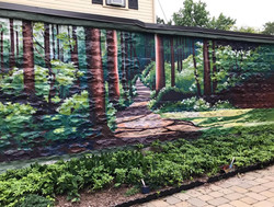 So That You Are Always Surrounded By Trees; Mural, Boston, 2021
