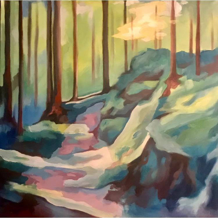 Forest Light (Acrylic, 80cm x 80cm)