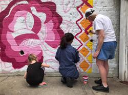 Multigenerational, neighborhood painting. NYC, 2021