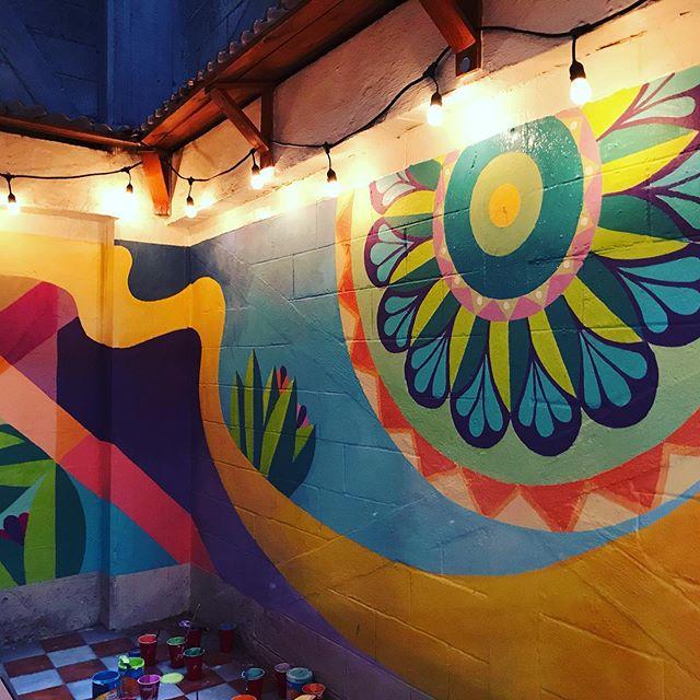 Mandala Flower (Mural, CDMX)