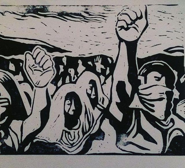 Resistencia (Linoleum print)