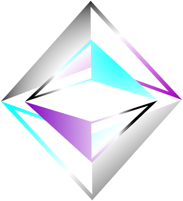 Flavored Ventures logo - purple & turqoise diamond shape - representation of human importance