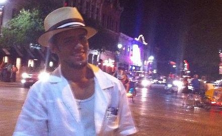 Sixth Street (6th St. Austin, Tx); Downtown Austin; the author, Awbrey Collins