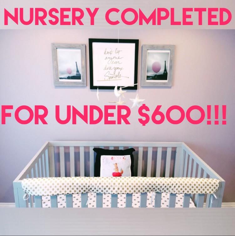Jayne's Nursery for Under $600!!