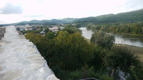 Sanok, widok z zamku na San