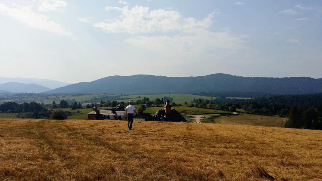 Widok z Lutowisk na Bieszczady