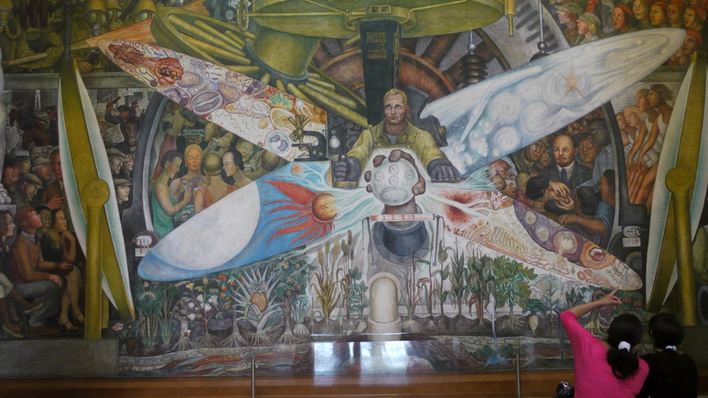 Mexico City, mural Diego Rivery