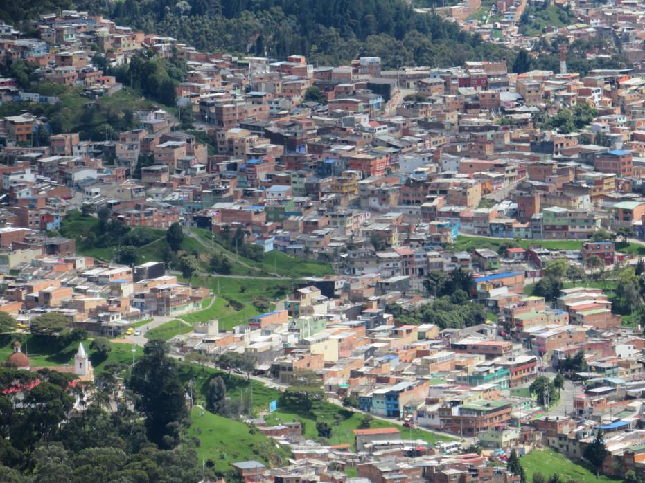 Bogota, przedmieścia