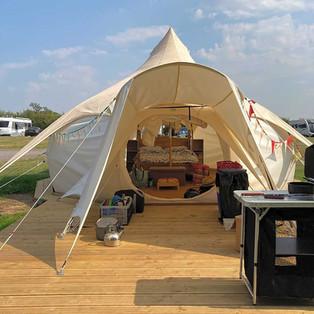 Glamping Bell Tent Belle Lotus