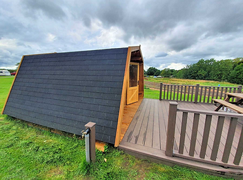 Glamping pod, wooden cabin, camping