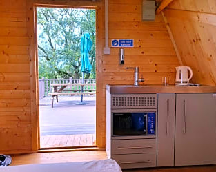 Glamping Pods, wooden pods