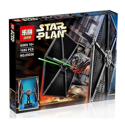 Коробка аналог Lego Star Wars Истребитель TIE Fighter | 75095 | LEGOREPLICA
