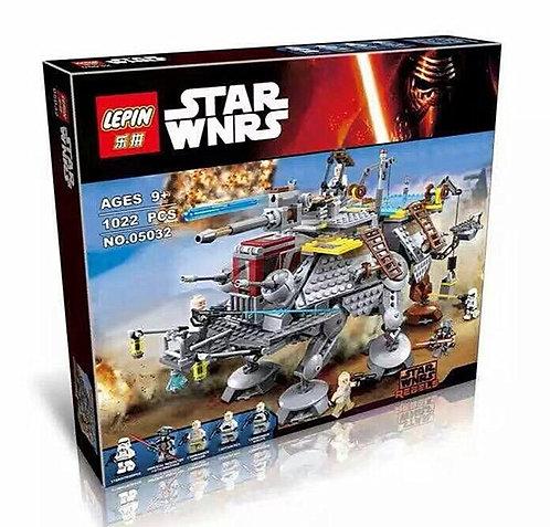 Коробка аналог Lego Star Wars Шагающий вездеход AT-TE Капитана Рекса   75157   LEGOREPLICA