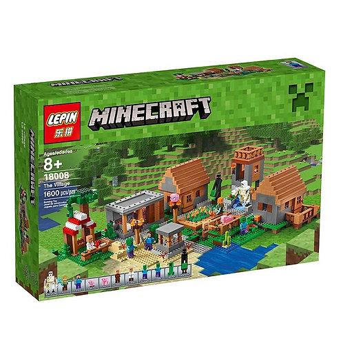 Коробка аналог Lego Minecraft Деревня (The Village)   21128   LEGOREPLICA