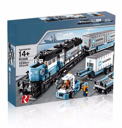 Конструктор KingQueen Грузовой Поезд Маерск   10219