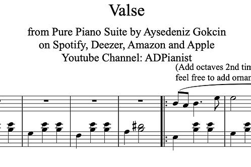 """Valse"" Piano Score (PDF)"