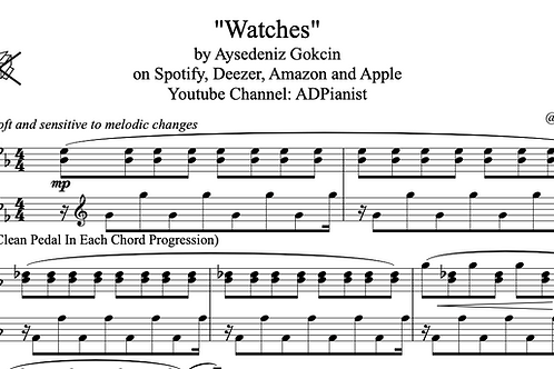 'Watches' by AyşeDeniz - Sheet Music (PDF)