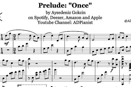 'Once' by AyşeDeniz - Sheet Music (PDF)