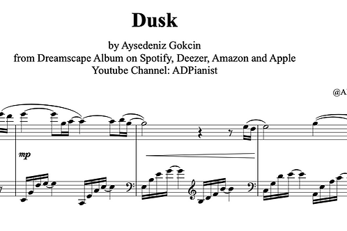 'Dusk' by AyşeDeniz - Sheet Music (PDF)