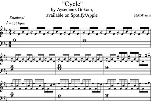 """Cycle"" Piano Score (PDF)"