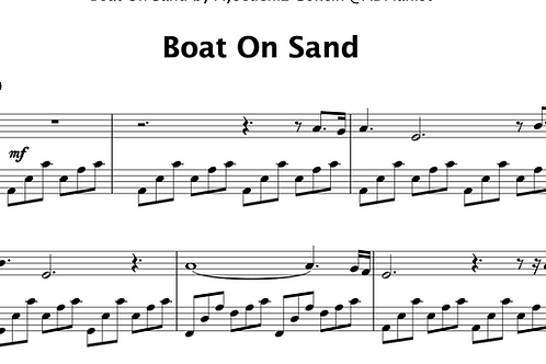 'Boat On Sand' by AyşeDeniz - Sheet Music (PDF)