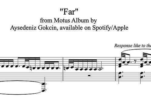 'Far' by AyşeDeniz - Sheet Music (PDF)