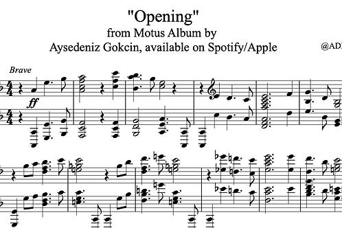 """""""Opening"""" Piano Score (PDF)"""