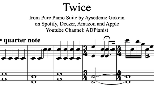 'Twice' by by AyşeDeniz - Sheet Music (PDF)
