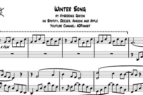 """Winter Song"" Piano Score (PDF)"