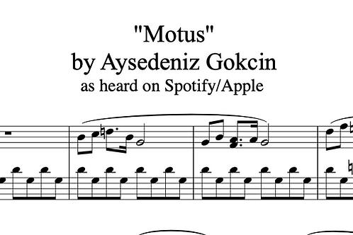 """Motus"" Piano Score (PDF)"