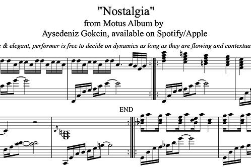 'Nostalgia' by AyşeDeniz - Sheet Music (PDF)