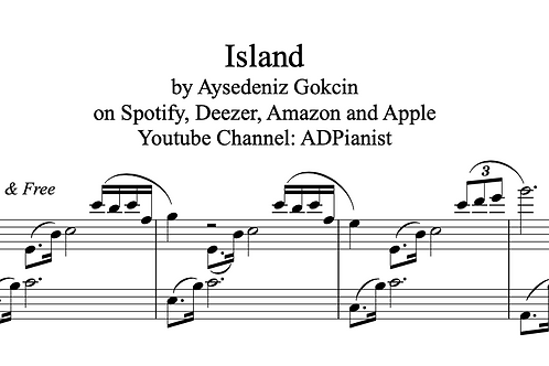 """Island"" Piano Score (PDF)"