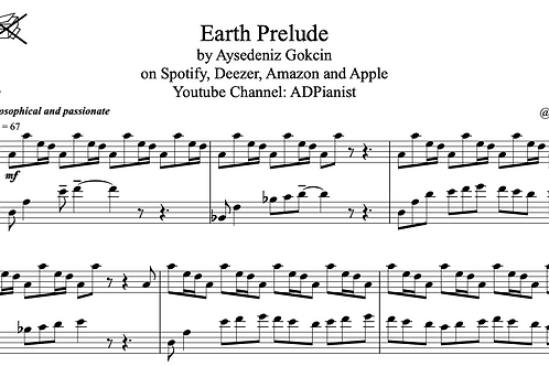 'Earth Prelude' by AyşeDeniz - Sheet Music (PDF)