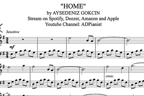 'Home' by AyşeDeniz - Sheet Music (PDF)