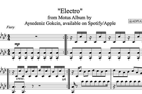 """Electro"" Piano Score (PDF)"