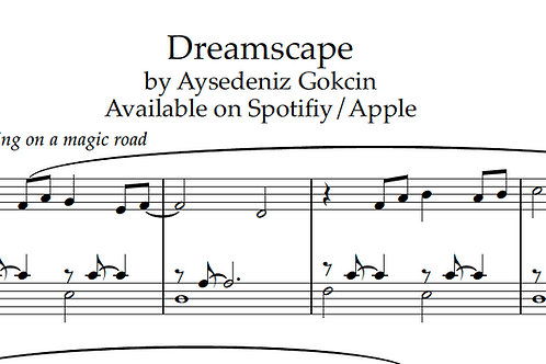 'Dreamscape' by AyşeDeniz - Sheet Music (PDF)