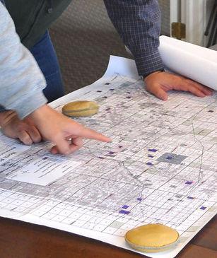Examine map