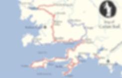 Karischer Weg, Übersicht Karte