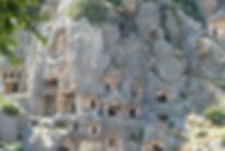 Wandern in der Türkei, Felsengraeber in Myra