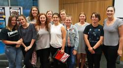 17U Girls with coach Emy van Duijn
