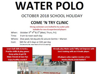 OCTOBER 2018 SCHOOL HOLIDAY COME 'N TRY CLINIC