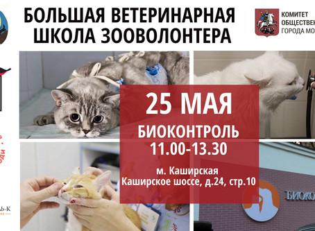 25 мая - Большая ветеринарная школа зооволонтера