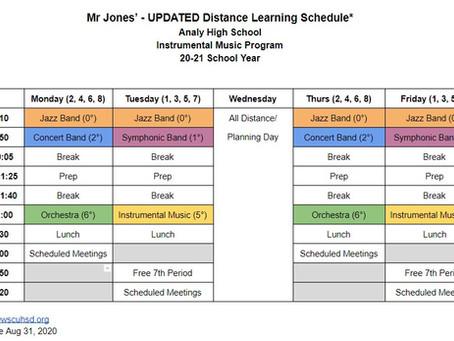 20-21 Mr. Jones' Distance Learning Schedule