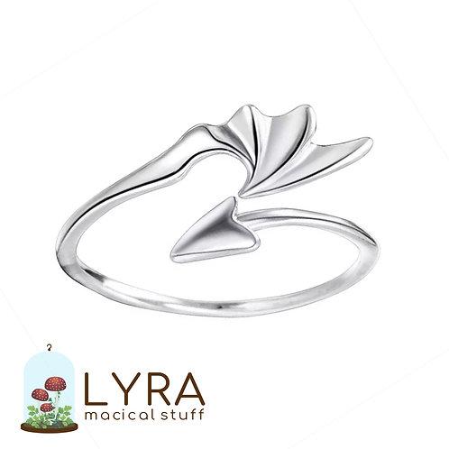 טבעת כנף הדרקון כסופה
