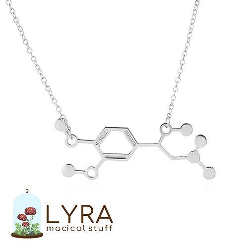 תליון מולקולת אדרנלין כסופה