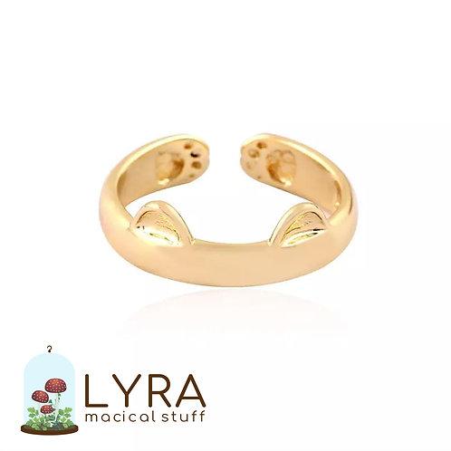 טבעת חתלתול זהובה