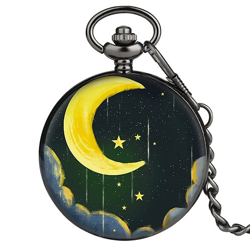 ליל ירח - שעון כיס מעוצב